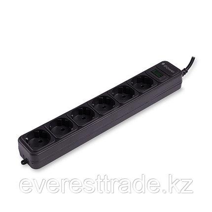 iPower Сетевой фильтр iPower, iPEO3m, 6 розеток, 3 м., 220-240В, 10A, картонная коробка, чёрный, фото 2