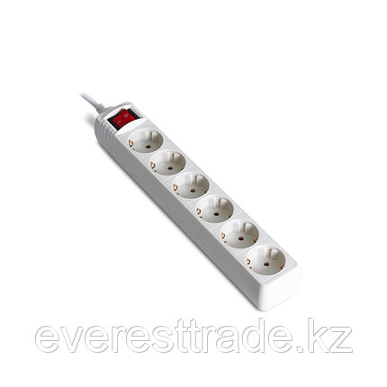 iPower Сетевой фильтр iPower, Office W6-30M, 6 роз, 3 м, 220-240В, 10A, полиэтиленовая упаковка, белый, фото 2