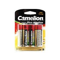 Camelion Батарейки CAMELION LR20-BP2 / D, Plus Alkaline, 1.5V, 21000 mAh, 2 шт., Блистер