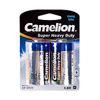 Camelion Батарейки CAMELION R20P-BP2B, Super Heavy Duty, D, 1.5V, mAh, 2 шт., Блистер
