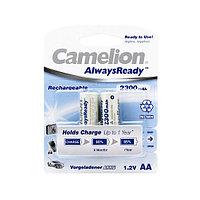 Camelion Аккумулятор AA, CAMELION, NH-AA2300ARBP2, AlwaysReady Rechargeable, 1.2V, 2300 mAh, 2 шт. в блис