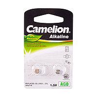 Camelion Батарейки, CAMELION, AG0-BP2, Alkaline, AG0, 1.5V, 0% Ртути, 2 шт.