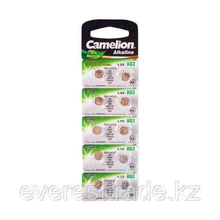 Camelion Батарейки, CAMELION, AG3-BP10, Alkaline, AG3, 1.5V, 0% Ртути, 10 шт. в блистере, фото 2