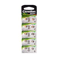 Camelion Батарейки, CAMELION, AG4-BP10, Alkaline, AG4, 1.5V, 0% Ртути, 10 шт., Блистер