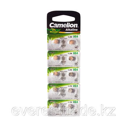 Camelion Батарейки, CAMELION, AG4-BP10, Alkaline, AG4, 1.5V, 0% Ртути, 10 шт., Блистер, фото 2