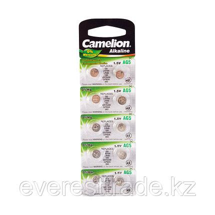 Camelion Батарейки, CAMELION, AG5-BP10, Alkaline, AG5, 1.5V, 0% Ртути, 10 шт. в блистере, фото 2