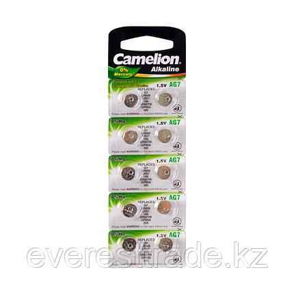 Camelion Батарейки,CAMELION, AG7-BP10, Alkaline, AG7, 1.5V, 0% Ртути, 10 шт. в блистере, фото 2