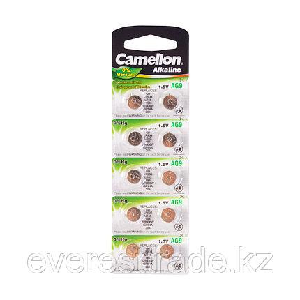 Camelion Батарейки,CAMELION, AG9-BP10, Alkaline, AG9, 1.5V, 0% Ртути, 10 шт. в блистере, фото 2