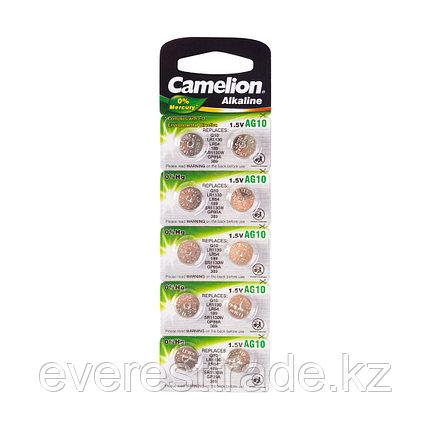 Camelion Батарейки,CAMELION, AG10-BP10, Alkaline, AG10, 1.5V, 0% Ртути, 10 шт. в блистере, фото 2