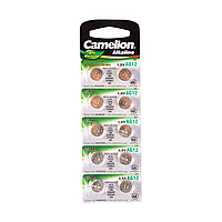 Camelion Батарейки,CAMELION, AG12-BP10, Alkaline, AG12, 1.5V, 0% Ртути, 10 шт. в блистере