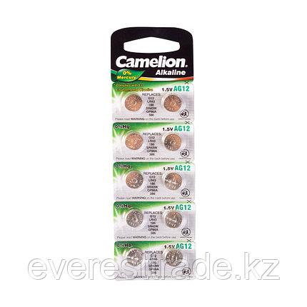 Camelion Батарейки,CAMELION, AG12-BP10, Alkaline, AG12, 1.5V, 0% Ртути, 10 шт. в блистере, фото 2