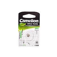 Camelion Батарейки,CAMELION, SR41-BP1, Silver Oxide, 1.55V, 0% Ртути, 1 шт., Блистер
