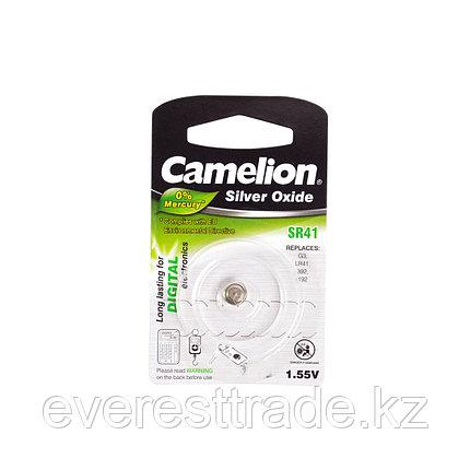 Camelion Батарейки,CAMELION, SR41-BP1, Silver Oxide, 1.55V, 0% Ртути, 1 шт., Блистер, фото 2