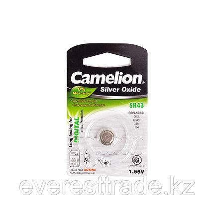 Camelion Батарейки,CAMELION, SR43-BP1 , Silver Oxide, 1.55V, 0% Ртути, 1 шт., Блистер, фото 2