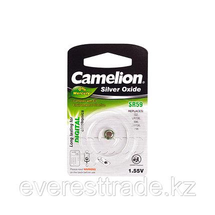 Camelion Батарейки,  CAMELION, SR59-BP1 , Silver Oxide, 1.55V, 0% Ртути, 1 шт., Блистер, фото 2