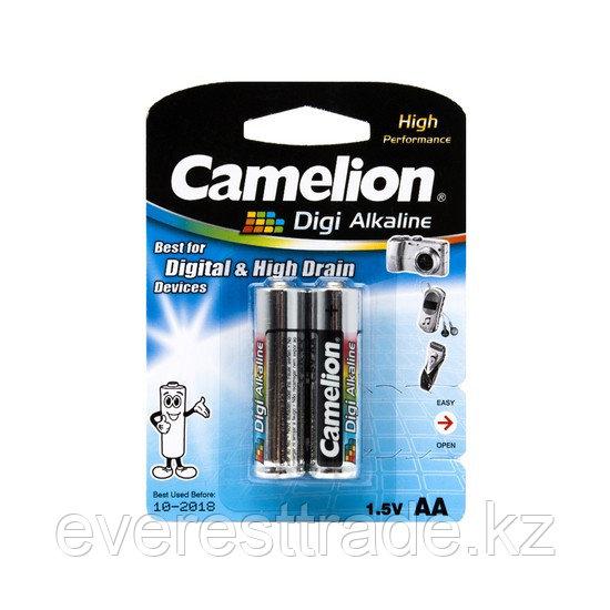 Camelion Батарейки CAMELION, АА LR6-BP2DG, Digi Alkaline, AA, 1.5V, 2800mAh, 2 шт. в блистере