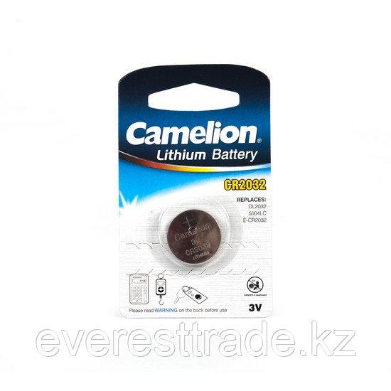 Camelion Батарейка, CAMELION, CR2032-BP1, Lithium Battery, CR2032, 3V, 220 mAh, 1 шт.