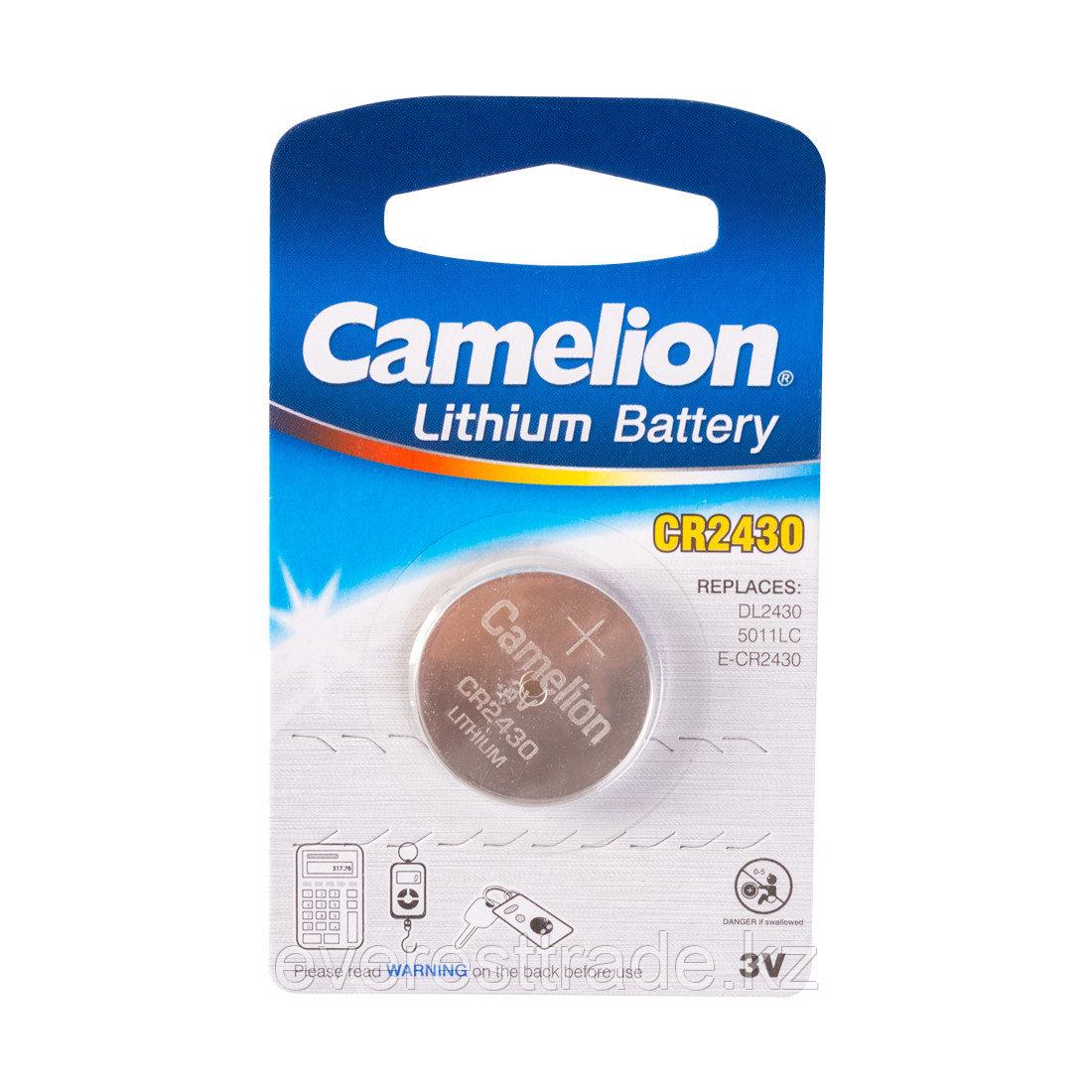 Camelion Батарейка, CAMELION, CR2430-BP1 Lithium Battery, CR2430, 3V, 220 mAh, 1 шт.