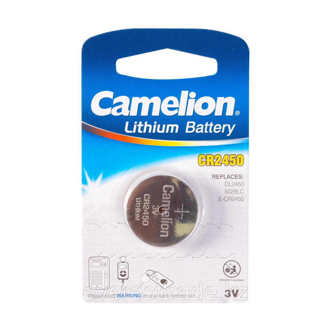 Camelion Батарейка, CAMELION, CR2450-BP1 Lithium Battery, CR2450, 3V, 220 mAh, 1 шт.