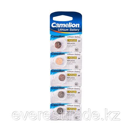 Camelion Батарейка, CAMELION, CR1216-BP5 Lithium Battery, CR1216 3V, 220 mAh, 5 шт. в блистере, фото 2