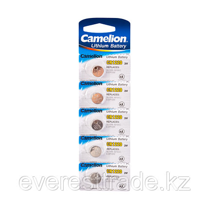 Camelion Батарейка, CAMELION, CR1220-BP5 Lithium Battery, CR1220 3V, 220 mAh, 5 шт. в блистере, фото 2