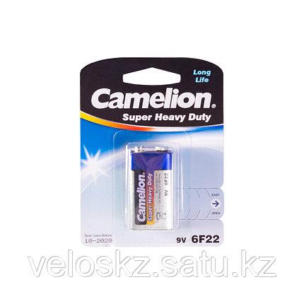 Camelion Батарейка, CAMELION, 6F22-BP1B, Солевая, 6F22(крона), 9V, 680 mAh, 1 шт., Блистер, фото 2