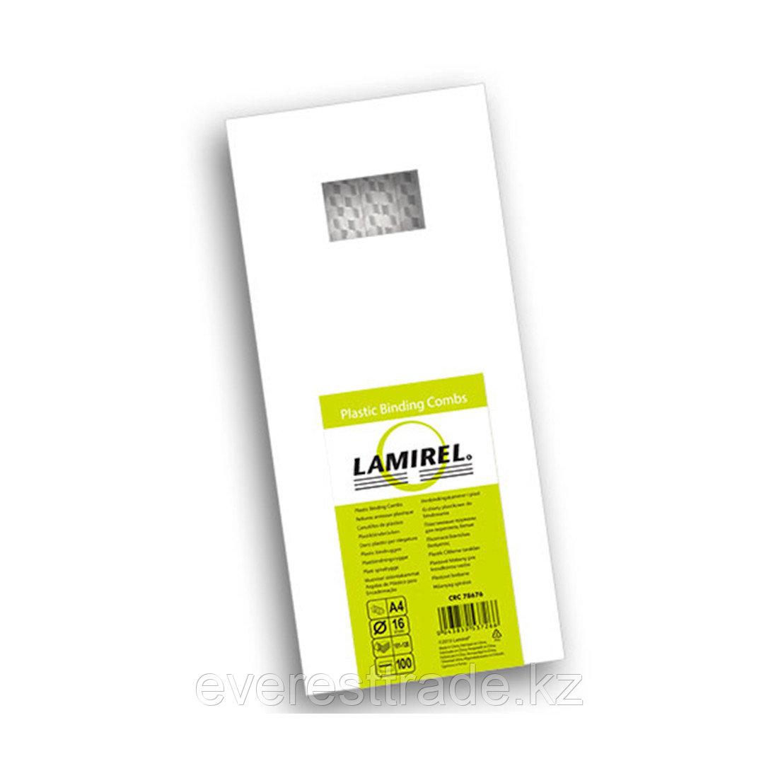 Lamirel Пружина пластиковая, Lamirel LA-78676, 16 мм. Цвет: белый, 100 шт