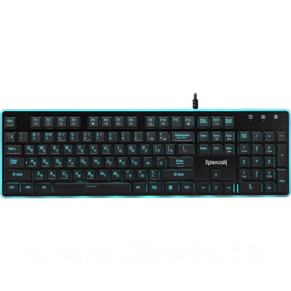 Redragon Клавиатура проводная Redragon Dyaus  (Черный), USB, ENG/RU, 7 цветов подсветки