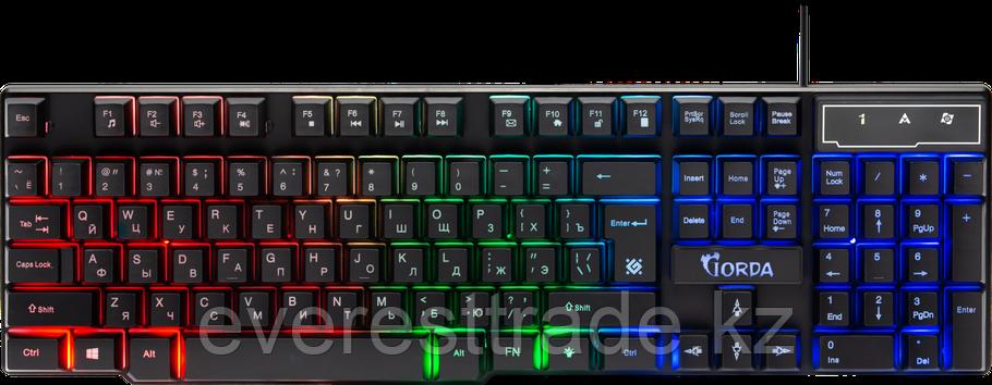 Defender Клавиатура проводная Defender Gorda GK-210L, ENG/RUS, USB, RGB подсветка, фото 2