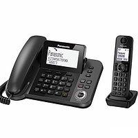 Panasonic Телефон беспроводной Panasonic KX-TGF320RUM Черный