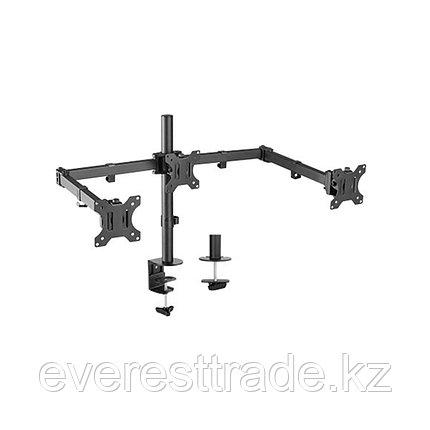 "Brateck Крепление для монитора Brateck LDT12-C034N 13""-27"" Нагрузка 2х7 кг, на 3 монитора, фото 2"