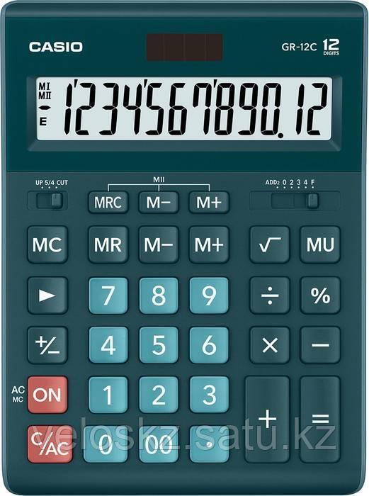 Casio Калькулятор CASIO GR-12C-DG-W-EP настольный зеленый