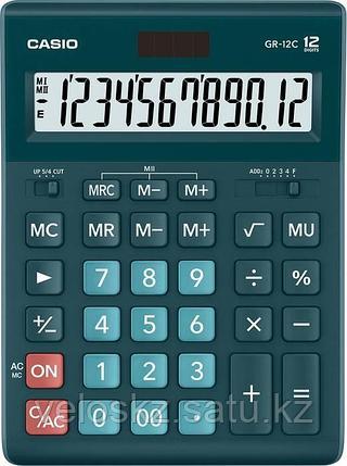 Casio Калькулятор CASIO GR-12C-DG-W-EP настольный зеленый, фото 2