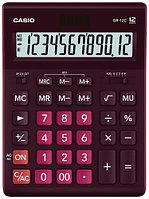 Casio Калькулятор CASIO GR-12C-WR-W-EP настольный бордовый