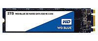 Western Digital (WD) Жесткий диск SSD 2TB WD Blue WDS200T2B0B M.2 2280
