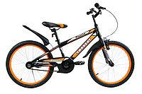 """Детский велосипед Torrent Planeta (дорожный, 1 скорость, рама сталь, колеса 20"""") (20"""" / 10,5"""" / Черный - оранж"""