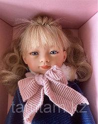 Кукла Мариэтта в синем пальто русая / 34 см (Carmen Gonzalez, Испания)