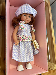 Кукла Мариэтта рыжая в платье и панамке /  34 см (Carmen Gonzalez, Испания)