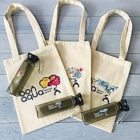 Нанесение логотипа на сумки, бутылки