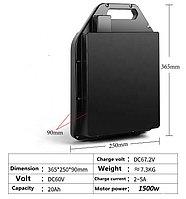 Аккумуляторы для Citycoco Li-ion 60v 20 A/H до 1500 w. Размер 365*125*90 mm.