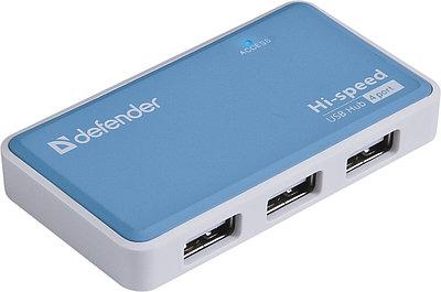 Разветвитель USB Defender QUADRO POWER, 4 port, USB 2.0, (83503)