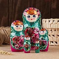 "Матрёшка 5-ти кукольная ""Надежда"" летняя 14-15 см, ручная роспись"