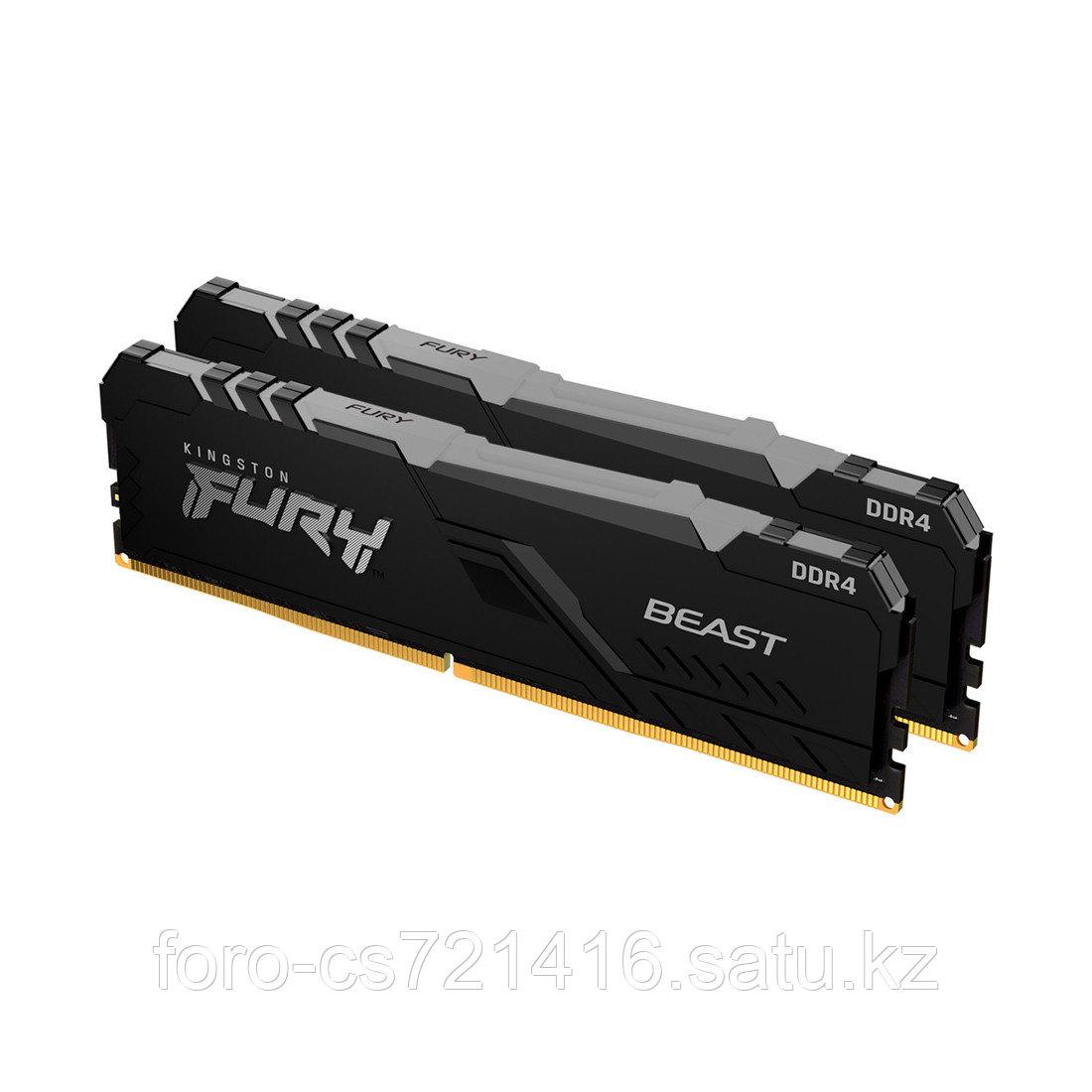 Комплект модулей памяти Kingston FURY Beast RGB KF430C16BBAK2/64 DDR4 64GB (Kit 2x32GB) 3000MHz