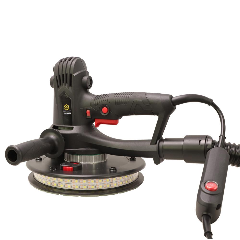 Шлифмашинка 180 мм с подсветкой и мешком для пыли Schtaer 700G