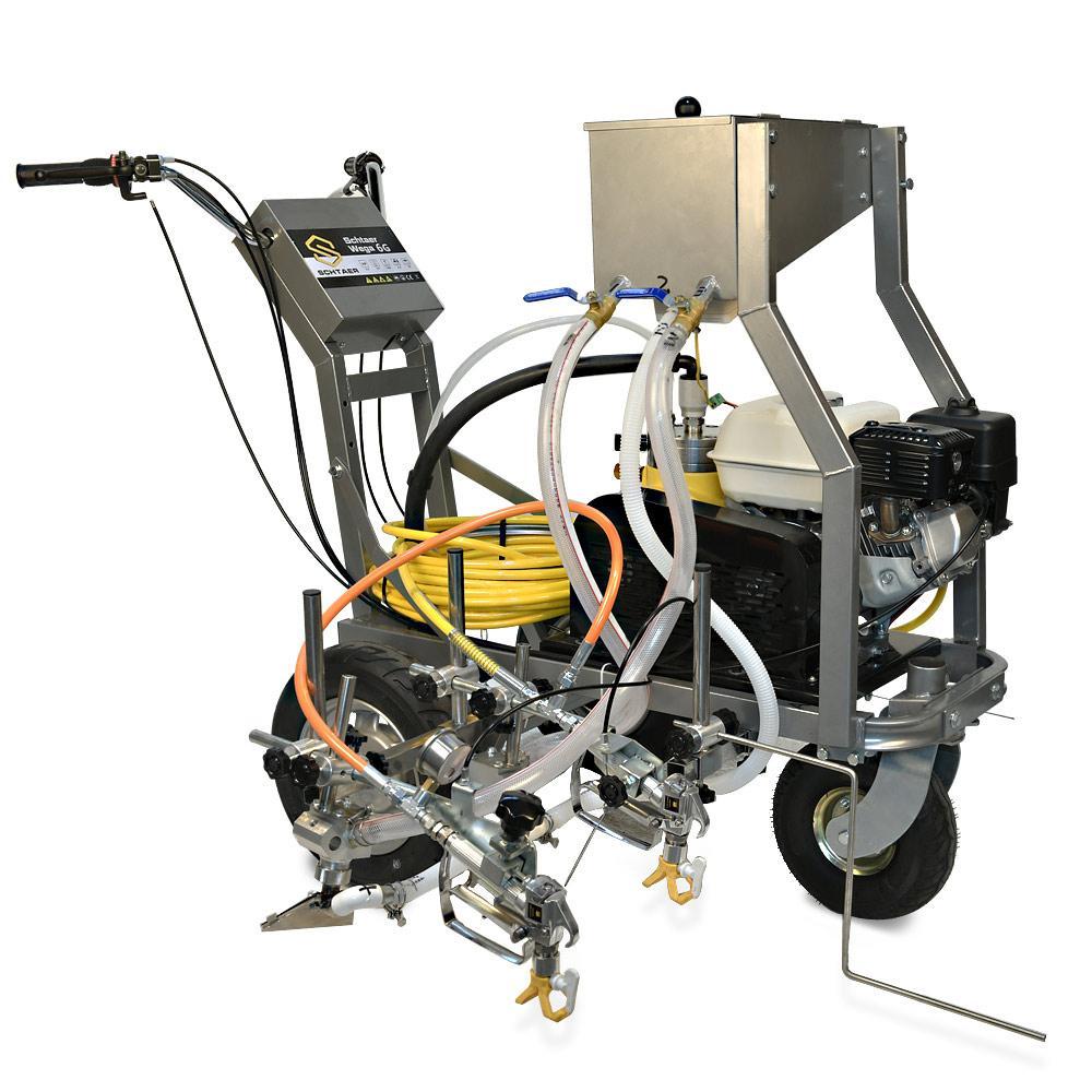 Разметочная машина с комплектом для стеклошариков на 2 пистолета Schtaer Wega 6G