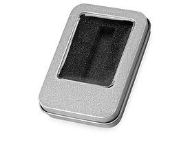 Коробка для флеш-карт с мини чипом Этан, серебристый