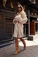 Женское осеннее бежевое платье Vesnaletto 2750-2 44р.
