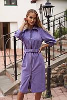 Женское осеннее джинсовое фиолетовое платье Vesnaletto 2754 44р.