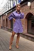 Женское осеннее джинсовое фиолетовое платье Vesnaletto 2755 44р.