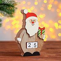 Вечный календарь «Дед мороз с подарком» 16×10,5×3 см